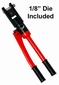 "Cable Crimper & Die: For 1/8"" cable railing systems"