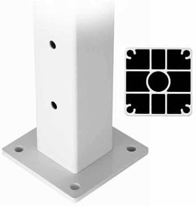 Deck Mount Aluminum Terminal Post for Stainless Steel Cable Railing Systems