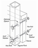 Fascia Mount Aluminum Intermediate Post for Cable Railing Systems