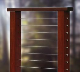 Ipe Brazilian Walnut Wood Cable Railings