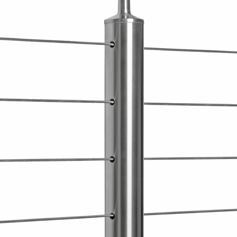 stainless steel round cable railing posts