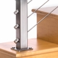 Square Stainless Steel Deck Mount 42in Drilled Terminal Post