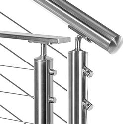 Stainless Round Top Rail Components