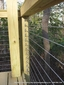 Wood Deck with Stainless Steel Cable Railing and Turnbuckles- J Bradley, Williamsburg VA