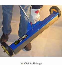 """AJC Tools 070-RMS  30"""" Rolling Magnetic Sweeper with Folding Handle"""