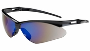 Bouton Safety Glasses 250-AN-10115  Anser - Blue Mirror Anti-Scratch Lens With Black Frames