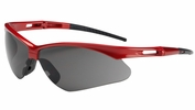 Bouton Safety Glasses 250-AN-10117  Anser - Gray Anti-Scratch Lens With Red Frames