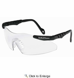 Jackson Safety 3011672  Smith & Wesson Magnum 3G Safety Glasses Black Frame / Clear Lens (SW152PCC)(19799)