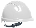 JSP 280-EV6131-10  Evolution - Standard Brim Hard Hat With 6 Point Polyester Suspension And Slip Ratchet Adjustment - White
