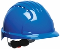 JSP 280-EV6151-50  Evolution Deluxe - Standard Brim Hard Hat With 6 Point Polyester Suspension And Wheel Ratchet Adjustment - Blue