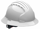 JSP 280-EV6161-10   Evolution Deluxe - Full Brim Non Vented Hard Hat 6 Point Polyester Suspension With Wheel Ratchet Adjustment - White