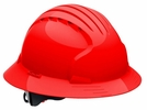 JSP 280-EV6161-60   Evolution Deluxe - Full Brim Non Vented Hard Hat 6 Point Polyester Suspension With Wheel Ratchet Adjustment - Red