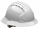 JSP 280-EV6161V-10  Evolution Deluxe - Full Brim Vented Hard Hat 6 Point Polyester Suspension With Wheel Ratchet Adjustment - White