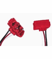 "Maxxima M50900  3-pin Right Angle Electrical Connector Plug for Stop/Turn/Tail Lights 10"" Leads"