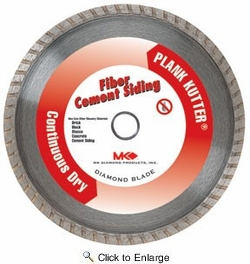 "MK Diamond 156994  MK-Plank Kutter 7"" x 5/8"" Dry Cutting Turbo Rim Diamond Blade for Fiber Cement Siding"
