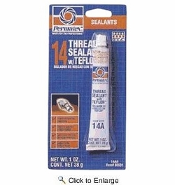 Permatex 80631  Thread Sealant with PTFE - 1 oz Tube (14A)