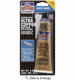 Permatex 81878  Ultra Copper Maximum Temperature RTV Silicone Gasket Maker - 3 oz Tube (101BR)