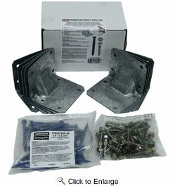 Simpson Strong Tie HGAM10KTA  Gusset Angle Bracket Kit (10 HGAM10's w/SDS and Titen Screws)