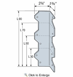 "Simpson Strong Tie L50  5"" Reinforcing Angle Bracket"