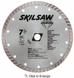 "Skil 79510  7"" Turbo Rim Diamond Blade for Brick, Concrete and Masonry"