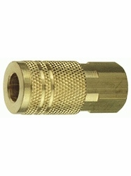 "Tru-Flate 13-235  1/4"" Industrial / Milton Design (""I/M"" Style) Air Line Quick Disconnect Coupler with 1/4"" NPT Female Thread"