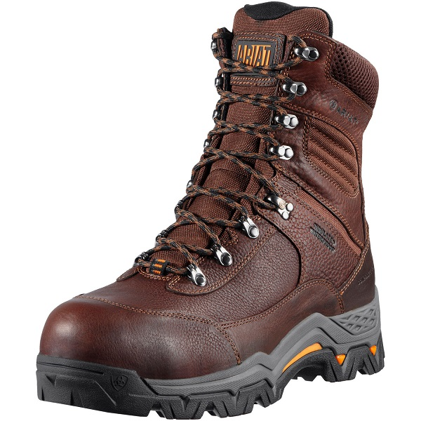 Ariat Mens WorkHog Trek 8 inch H2O Insulated CT Oiled Brown Ariat ...