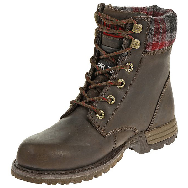 cat kenzie womens 6 inch steel toe work boot p90394