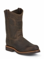 "Chippewa 10"" CHOCOLATE APACHE STEEL TOE PULL 20076"