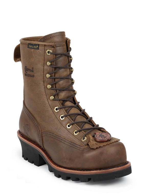 Chippewa 8 Inch Lace To Toe Bay Apache Logger Boot 73101