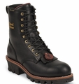 "Chippewa 8"" Black Oiled Logger Boot 73051"
