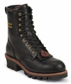 "Chippewa 8"" Black Oiled Logger Boot 73050"
