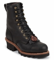 "Chippewa 8"" Black Oiled Logger Boot 73020"