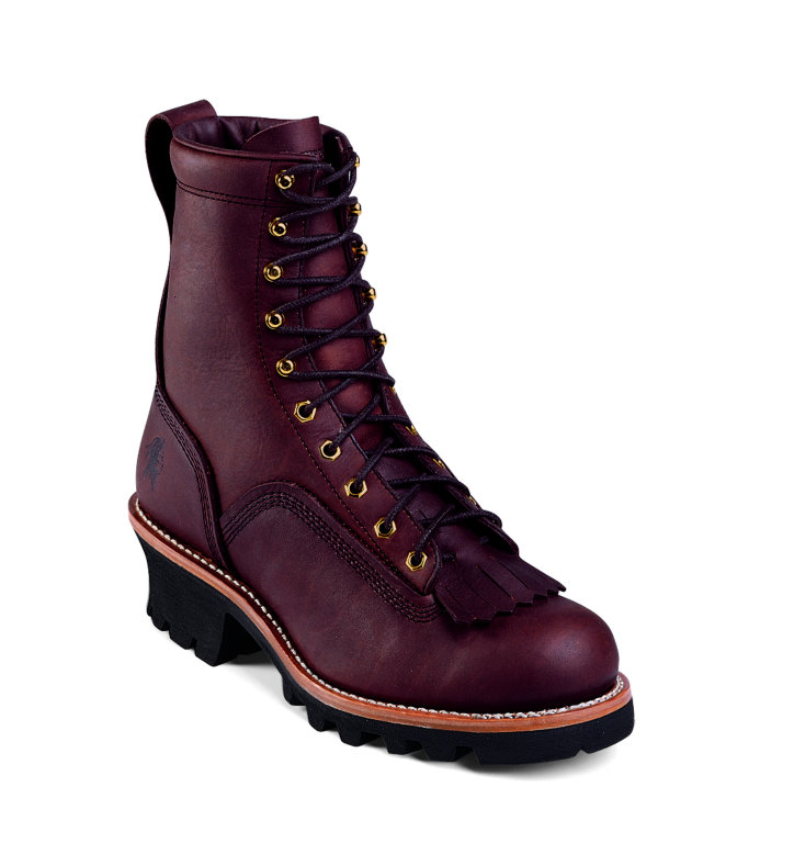 Chippewa 8 Inch Lace To Toe Oiled Redwood Logger Boot