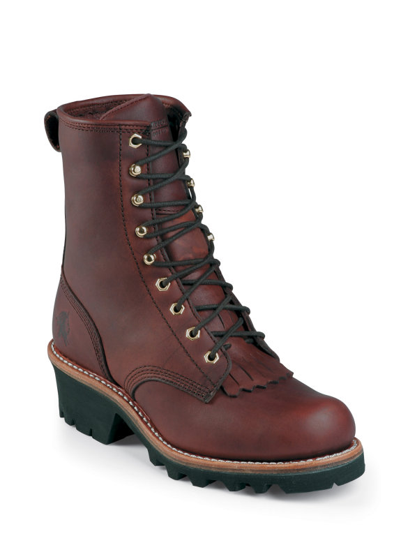 Chippewa 8 Inch Oiled Redwood Logger Boot 73031