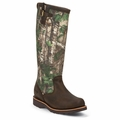 Chippewa Tan Apache Leather and Realtree Camo 17 Inch Snake Boot 25118