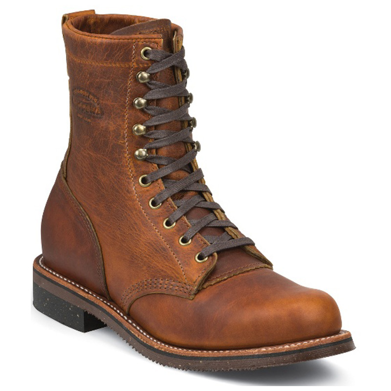 Tan Renegade Plain Toe 8 Inch Service Work Boot 1901G22