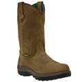 John Deere Men's WCT Waterproof Steel Toe Wellington Brown JD4604