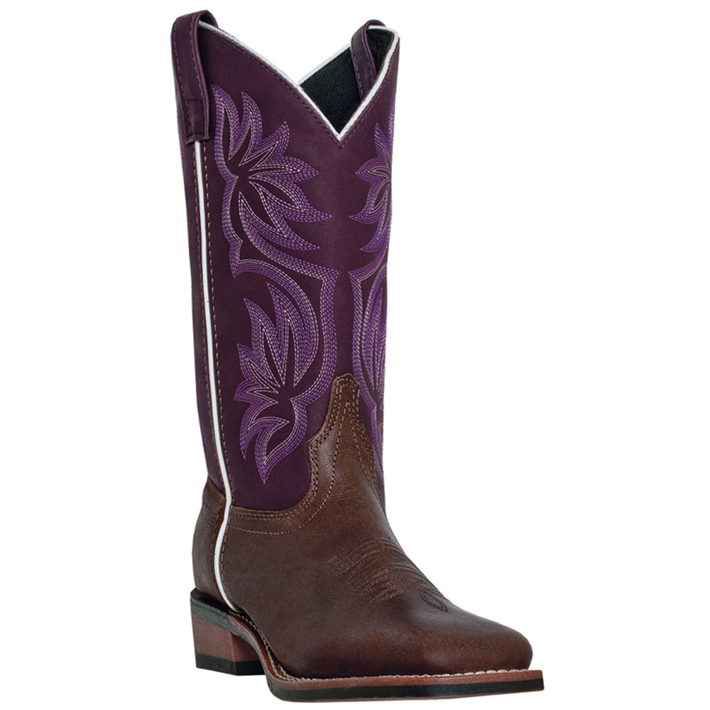 Original  Women39s Circle G By Corral BrownBeige Side Cross Square Toe Boot