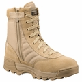 Original SWAT Classic 9 Inch Tan Side Zip Military Boot 115202