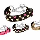Argyle Hearts Martingale Dog Collars