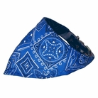 Bandana Dog Collar:  Blue Western