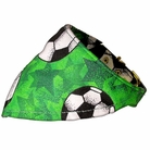 Bandana Dog Collar:  Green Soccer