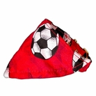 Bandana Dog Collar:  Red Soccer