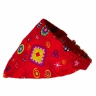 Bandana Dog Collar:  Red Stars