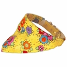 Bandana Dog Collar:  Yellow Flowers