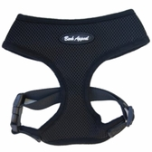 Black Breathe EZ Mesh Dog Harness by Bark Appeal
