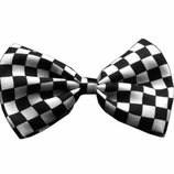 Black Checkered Dog Bow Ties