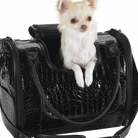 Black Croco Pet Carrier