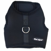 Black Mesh Wrap N Go Velcro Harness by Bark Appeal