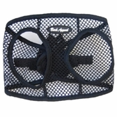 Black Netted EZ Wrap Non-Choking Dog Harness by Bark Appeal
